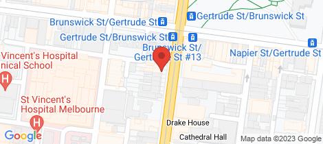 Location map for 8/35 Brunswick Street Fitzroy