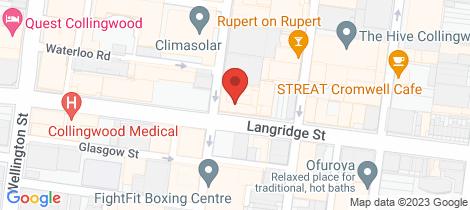 Location map for 1/104 Langridge  Street Collingwood