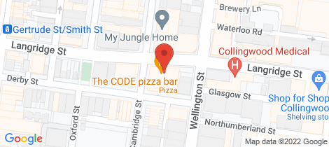 Location map for 609/68 Cambridge  Street Collingwood