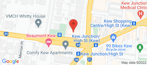 Location map for 605/1 Princess Street Kew
