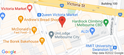 Location map for 901/43 Therry Street Melbourne