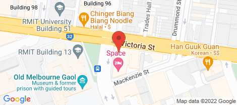 Location map for 9/35 Victoria Street Melbourne