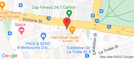 Location map for Penthouse/1 MacKenzie Street Melbourne