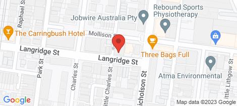 Location map for 274 Langridge Street Abbotsford