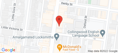 Location map for 20 Smith Street Collingwood