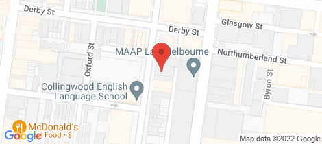 Location map for G02/46 Cambridge Street Collingwood