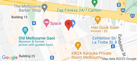 Location map for 504/33 Mackenzie Street Melbourne