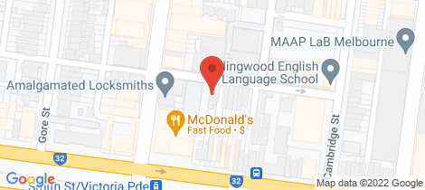 Location map for 7 Mason Street Collingwood
