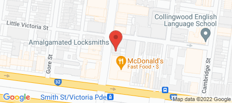 Location map for 8 Smith Street Collingwood
