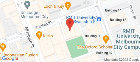 Location map for 2509/87 Franklin Street Melbourne