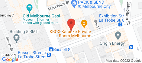 Location map for 411/68 Latrobe Street Melbourne