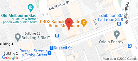 Location map for 611/68 Latrobe Street Melbourne