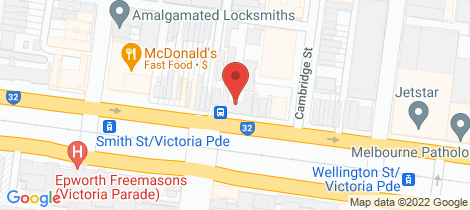 Location map for 623/45 Victoria Parade Collingwood