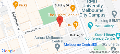 Location map for 7C7/31 Abeckett Street Melbourne