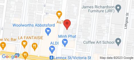 Location map for 4/18 Nicholson Street Abbotsford