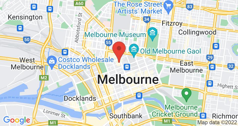 Google Map of UniLodge on A'Beckett - Student Accommodation Melbourne