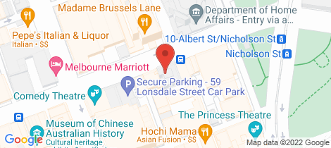 Location map for 103/39 Lonsdale Street Melbourne