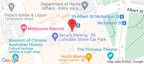 Location map for 2207/39 Lonsdale Street Melbourne