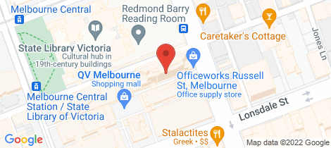 Location map for 1403/22-24 Jane Bell Lane Melbourne