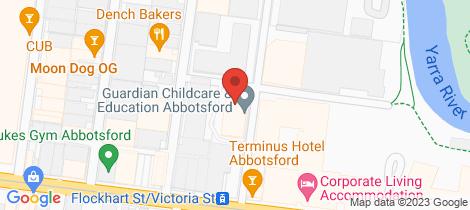 Location map for 2/5 Flockhart Street Abbotsford