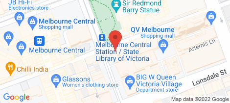 Location map for 614/300 Swanston Street Melbourne