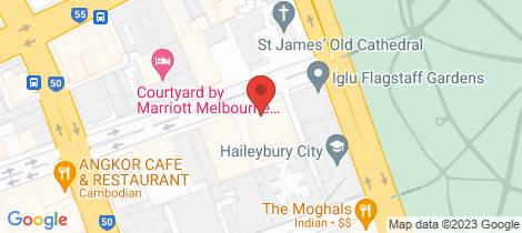 Location map for 1506/23 Batman Street West Melbourne