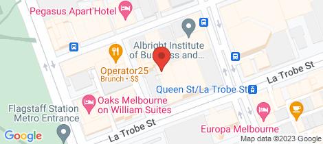 Location map for 32/398 La Trobe Street Melbourne