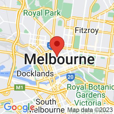 Map showing Rapha Melbourne