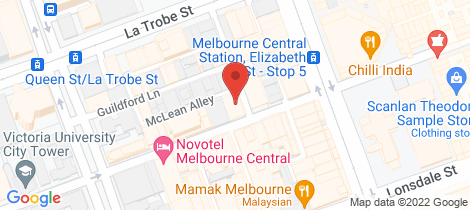 Location map for 1506/5 Sutherland Street Melbourne