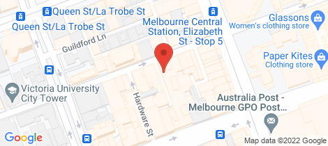 Location map for 905/371 Little Lonsdale Street Melbourne