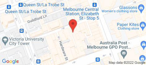 Location map for 2407/371 Little Lonsdale Street Melbourne