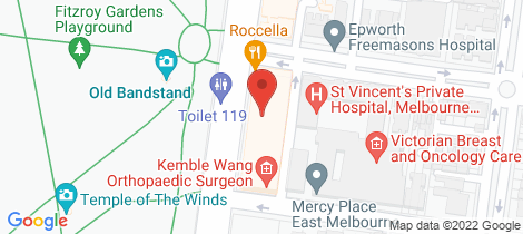 Location map for 404/150 Clarendon Street East Melbourne