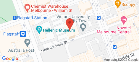 Location map for 2401/380 Little Lonsdale Street Melbourne