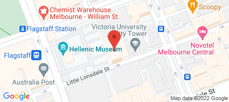 Location map for 2703/380 Little Lonsdale Street Melbourne