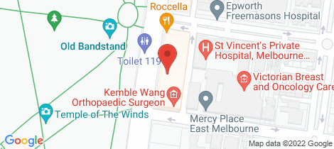 Location map for 202/150 Clarendon Street East Melbourne