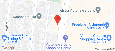 Location map for B301/20 Burnley Street Richmond