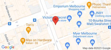 Location map for 1308/250 Elizabeth Street Melbourne