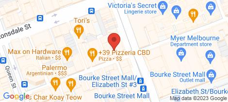 Location map for 805/225 Elizabeth Street Melbourne