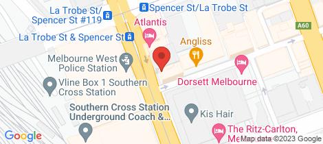 Location map for 811/280 Spencer Street Melbourne