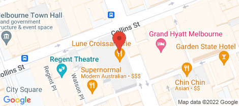 Location map for 8C/27 Russell Street Melbourne