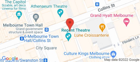 Location map for 1.2/187 Collins Street Melbourne