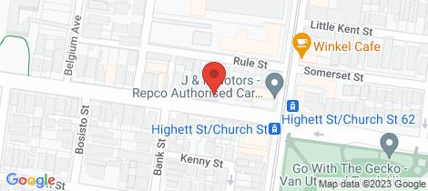 Location map for 199 Highett Street Richmond