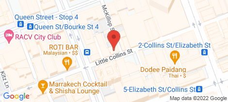 Location map for 101/390 Little Collins Street Melbourne