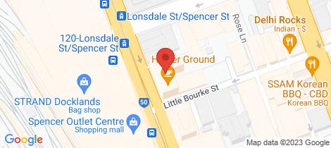 Location map for 3707/220 Spencer Street Melbourne