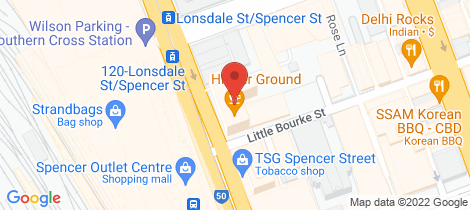Location map for 2413/220 Spencer Street Melbourne
