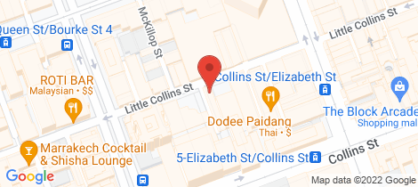 Location map for 7/377 Little Collins Street Melbourne