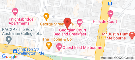 Location map for 7/37 George Street East Melbourne