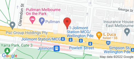 Location map for 1006/166 Wellington Parade East Melbourne