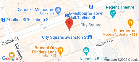 Location map for 914/233 Collins Street Melbourne