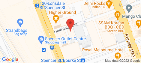 Location map for 901/639 Little Bourke Street Melbourne